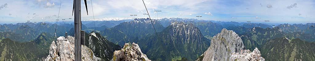 Panorama auf dem Guffert (4 MB, 23283x2207 Pixel)