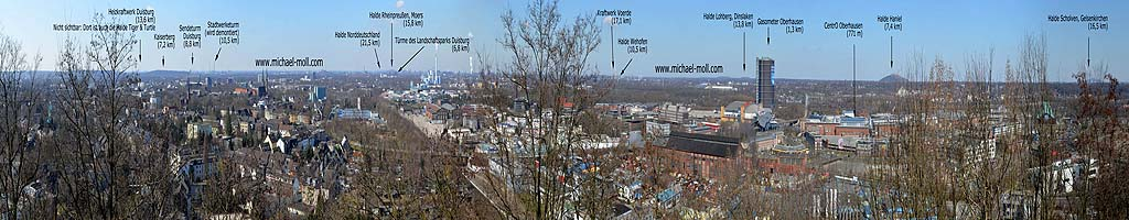 Panorama auf der Knappenhalde (8 MB, 29387x2825 Pixel)