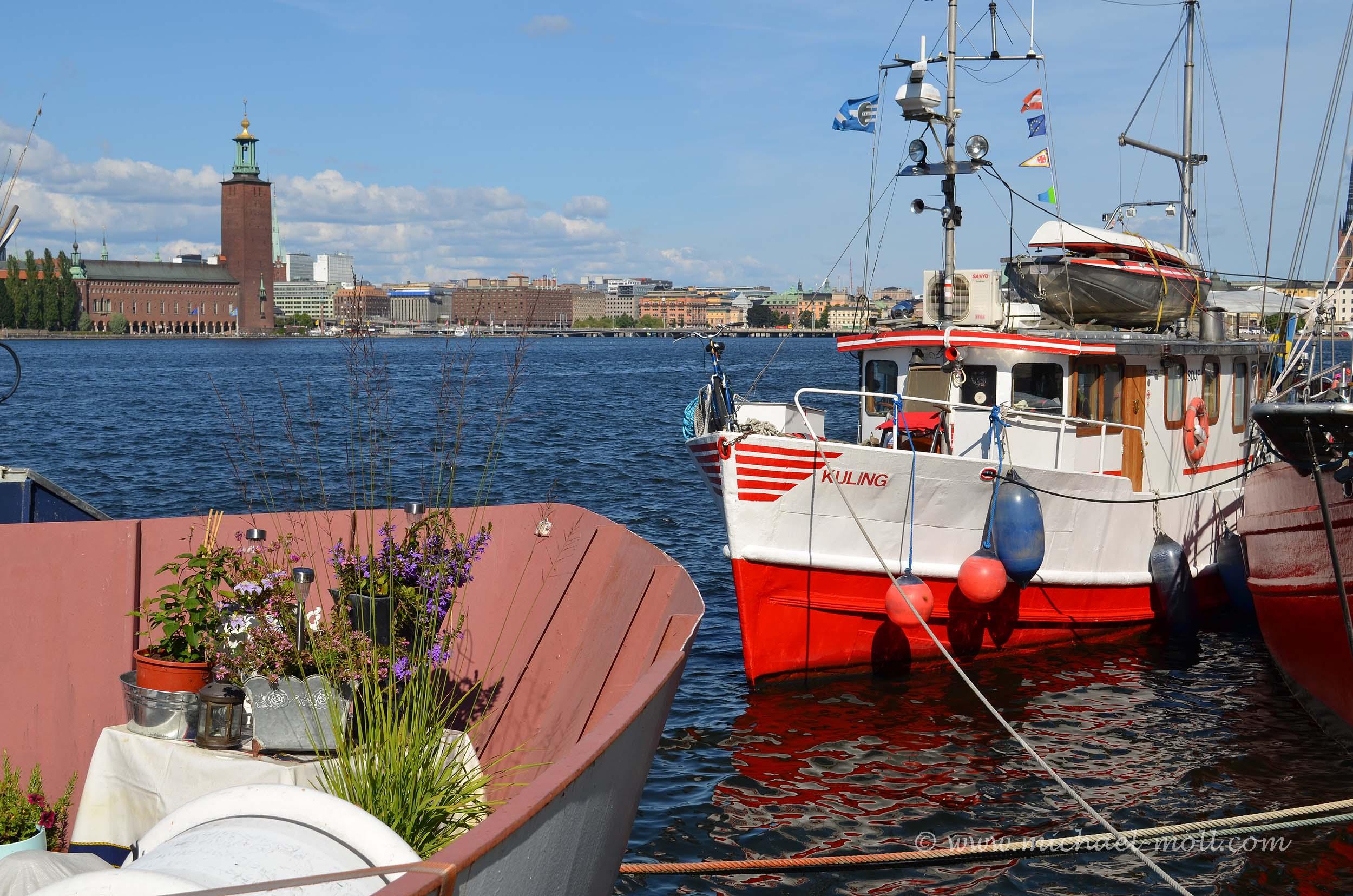 Schiffe am Riddarfjärden
