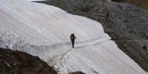 Wanderung auf Eis