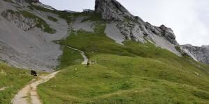 Wanderweg zur Bergstation Pilatus