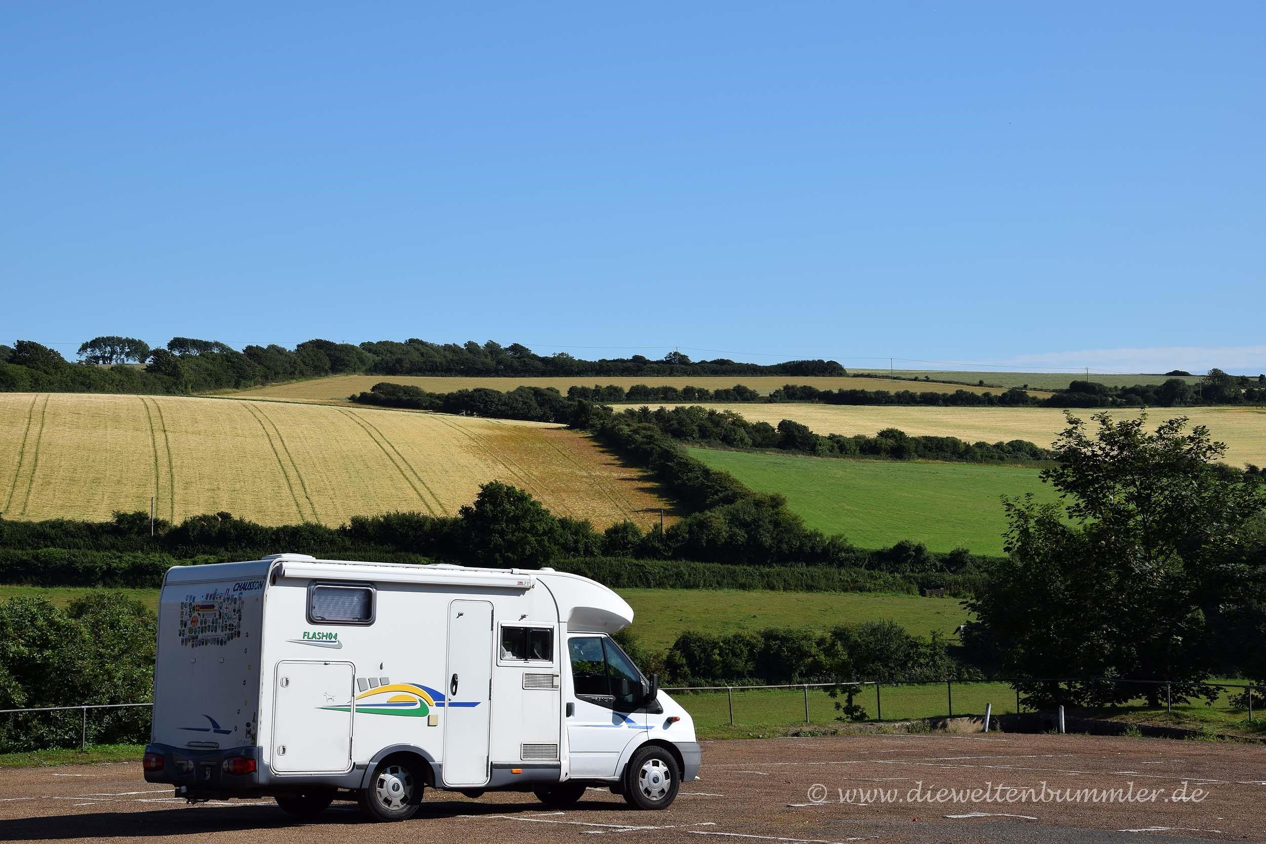 Wohnmobil auf der Isle of Wight