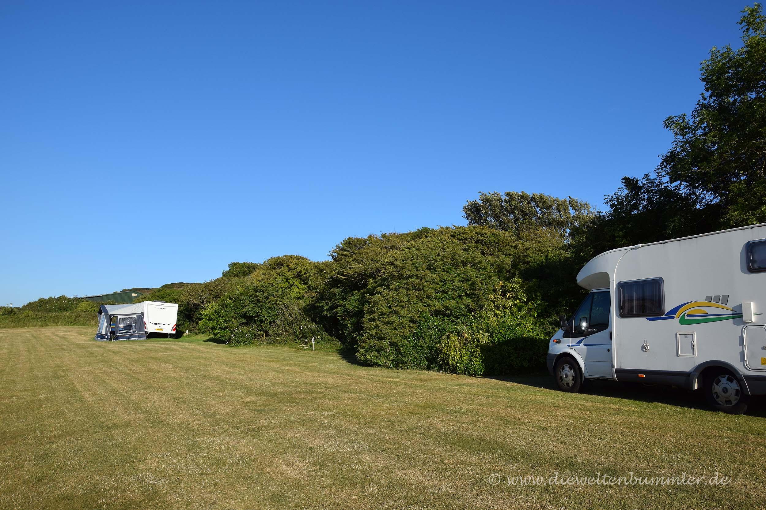 Stellplatz auf der Isle of Wight