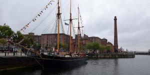 Segelschiff im Hafen von Liverpool