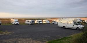 Camping vor der Holy Island