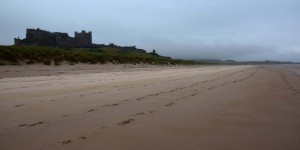 Bamburgh Castle direkt am Strand