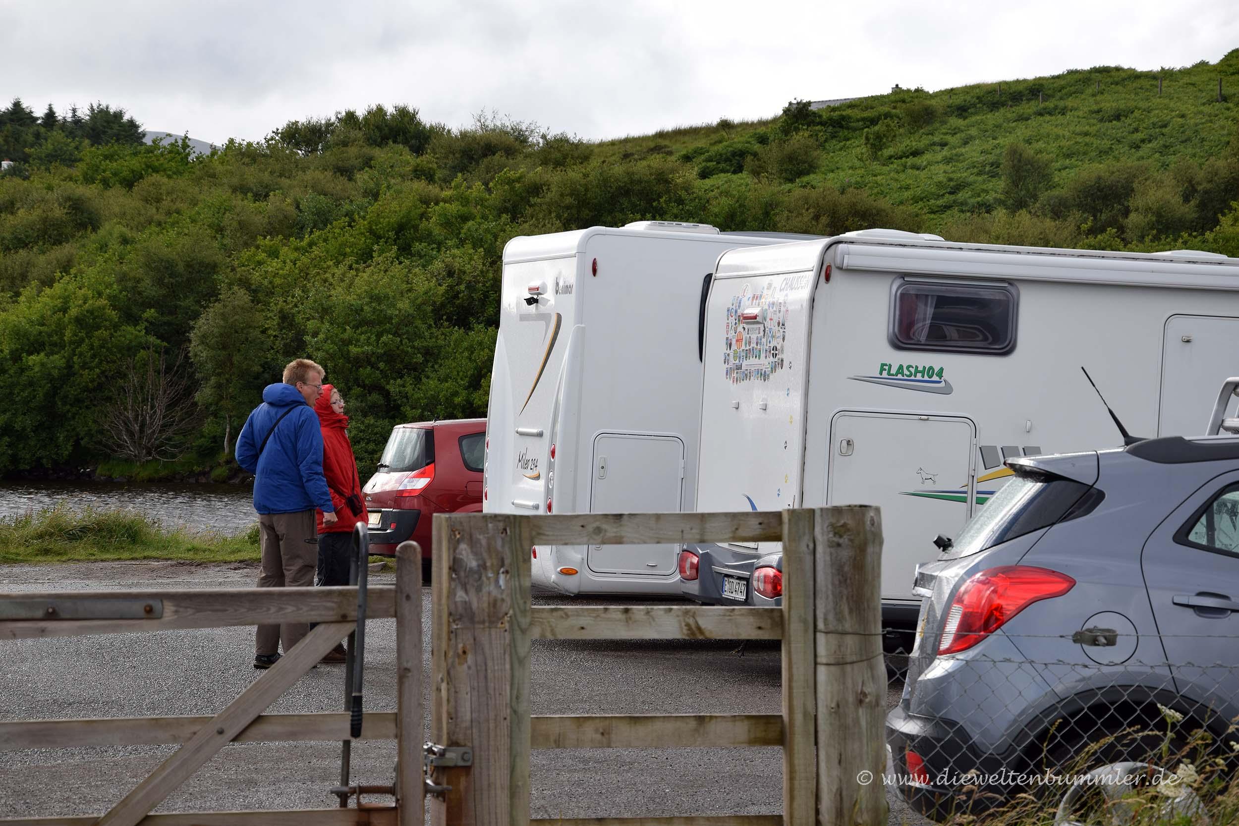 Urlauber auf der Isle of Skye