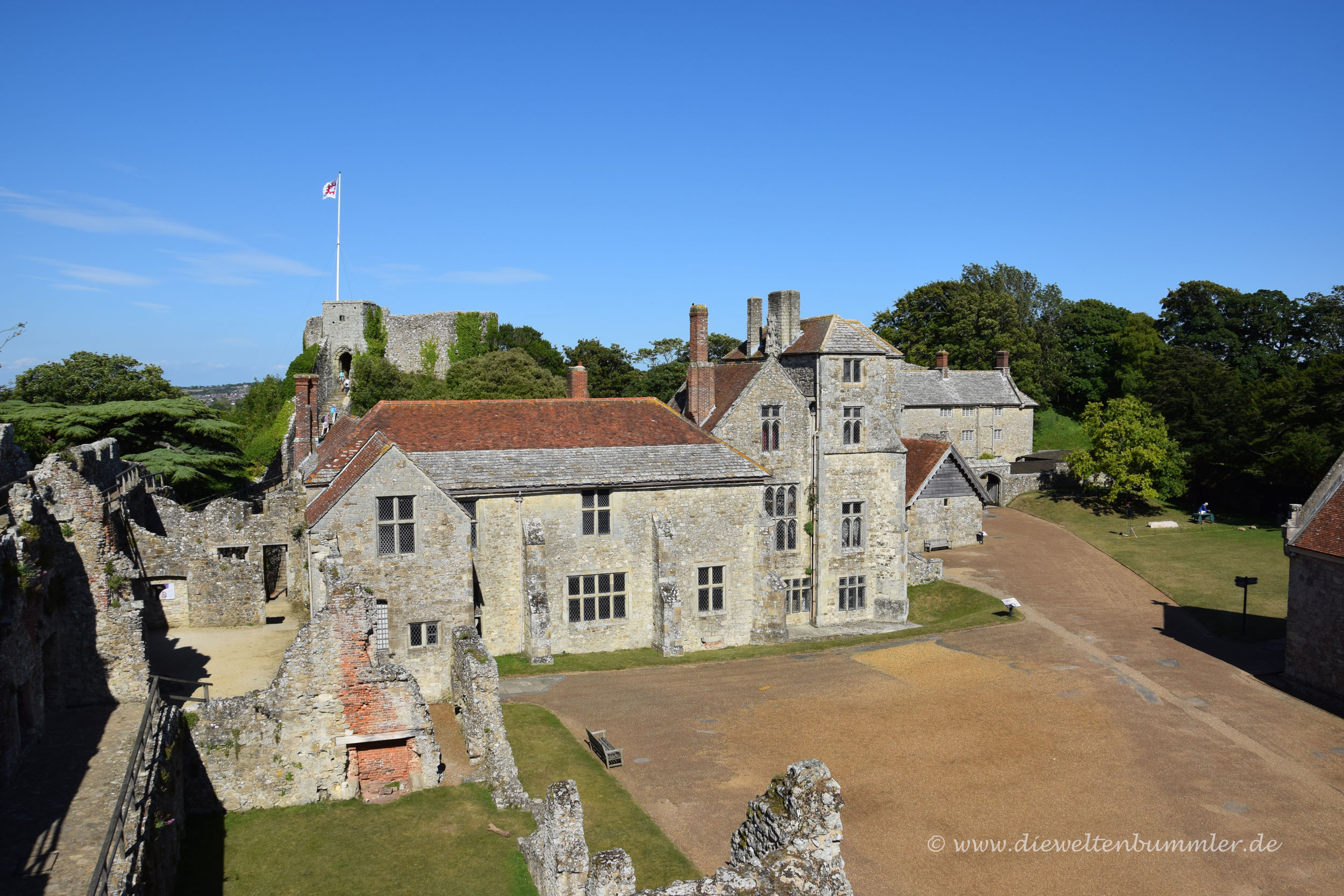 Carisbrooke Castle auf der Isle of Wight