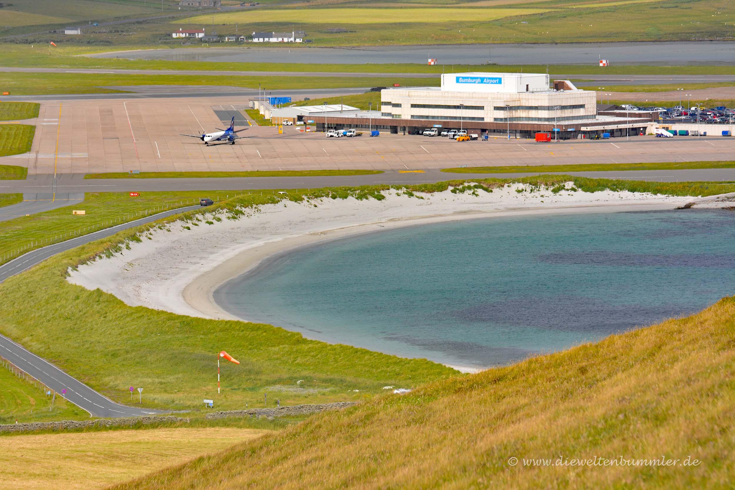 Flughafen am Strand