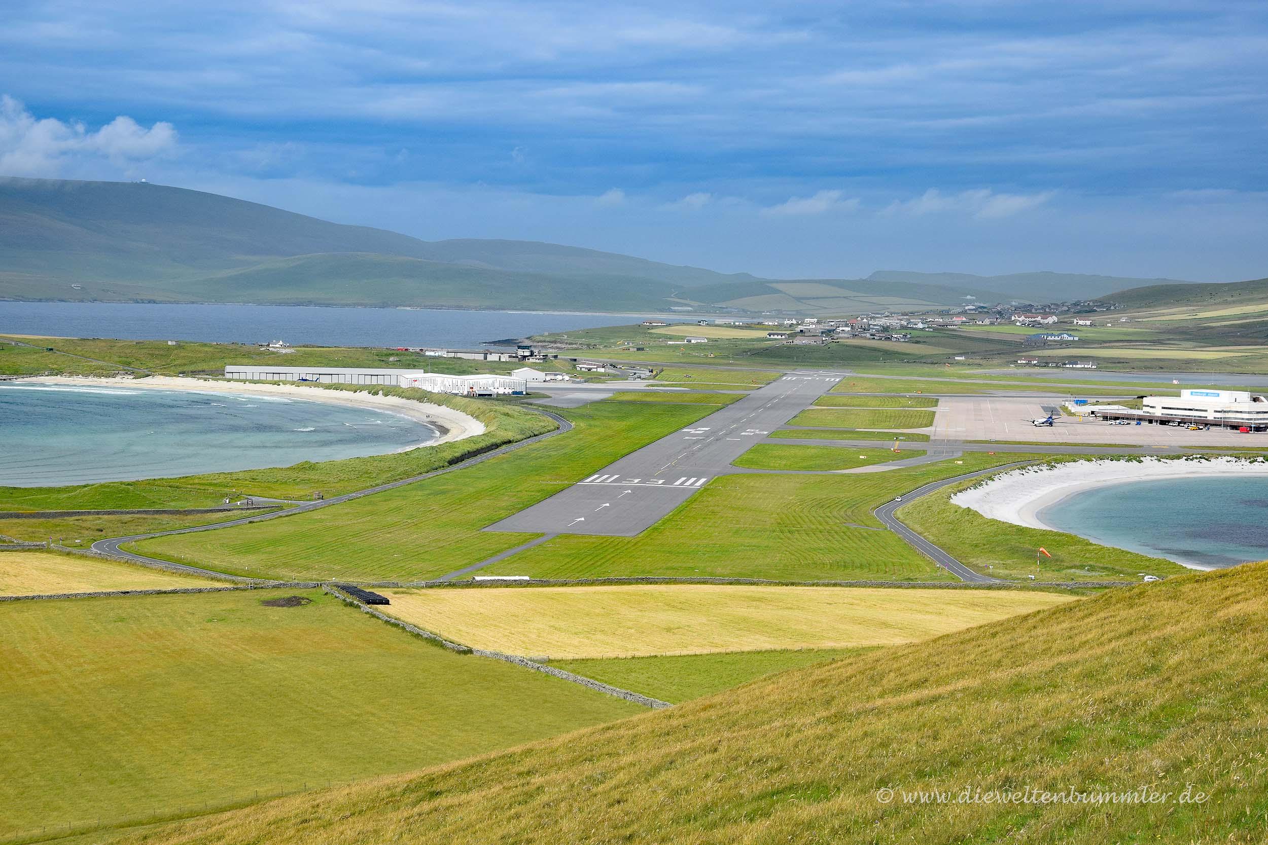 Flughafen der Shetland-Inseln