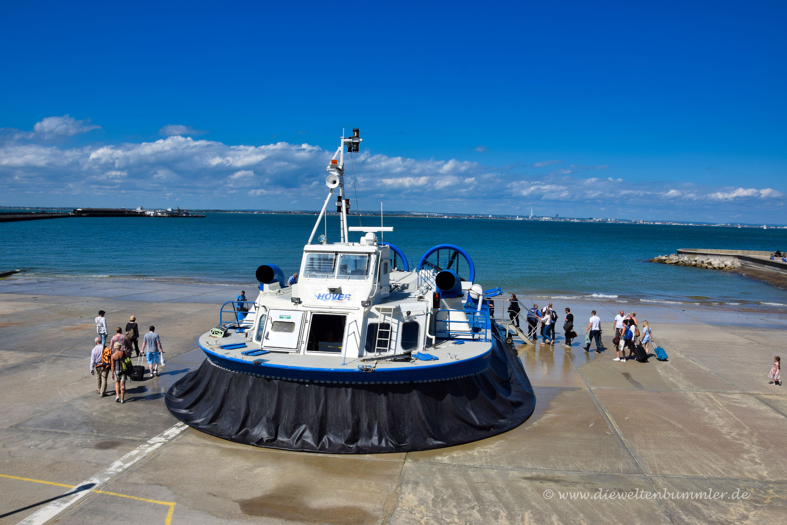 Hovercraft zur Isle of Wight