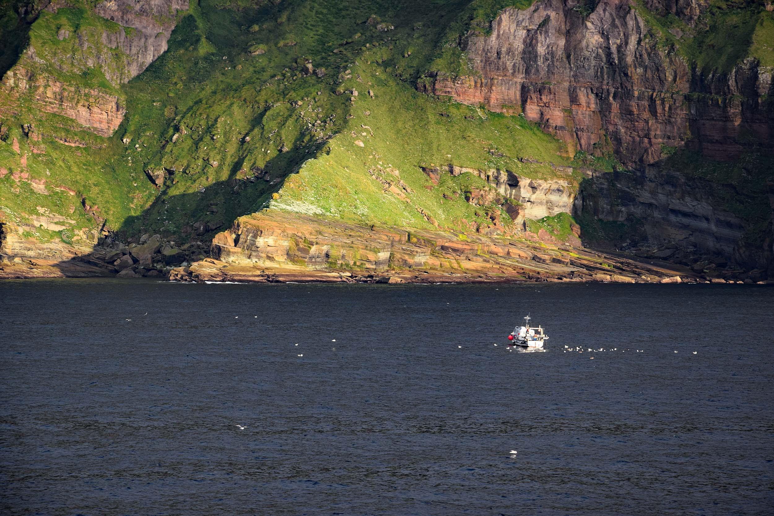 Mächtige Steilküste der Orkney-Inseln