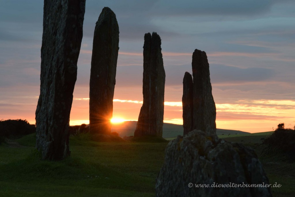 Ring of Brodgar bei Sonnenuntergang