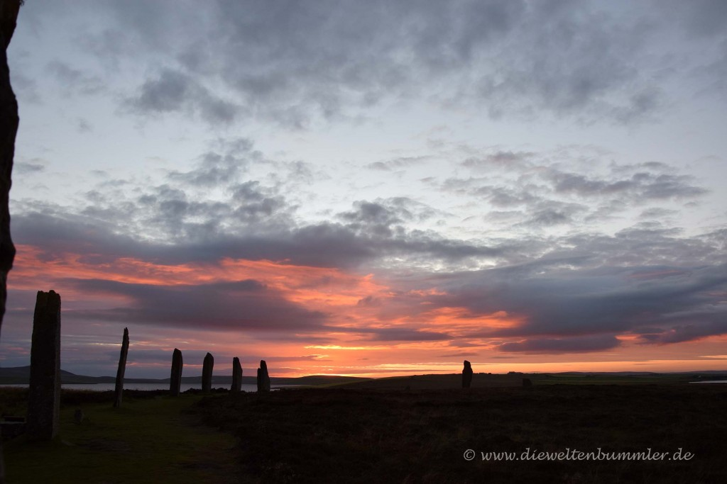 Ring of Brodgar in Abendstimmung