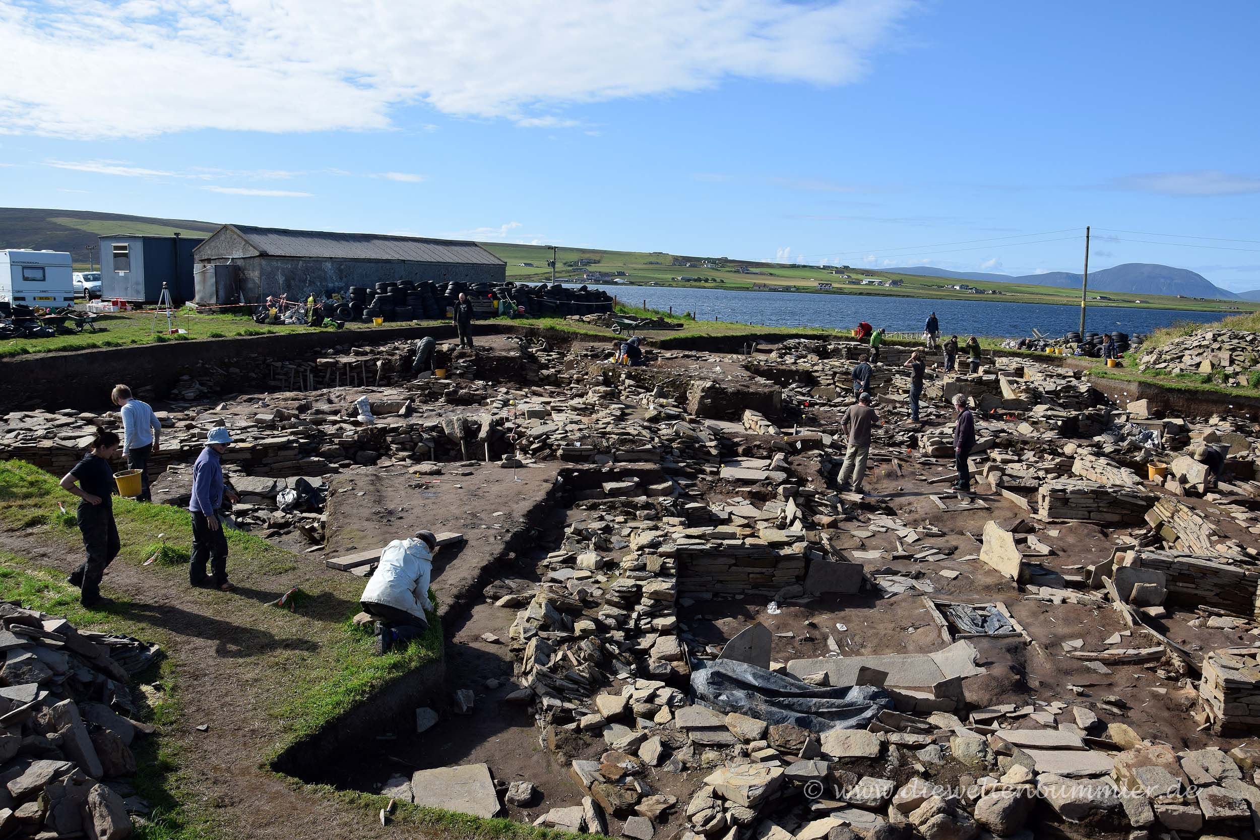 Ausgrabungsstätte auf den Orkney-Inseln