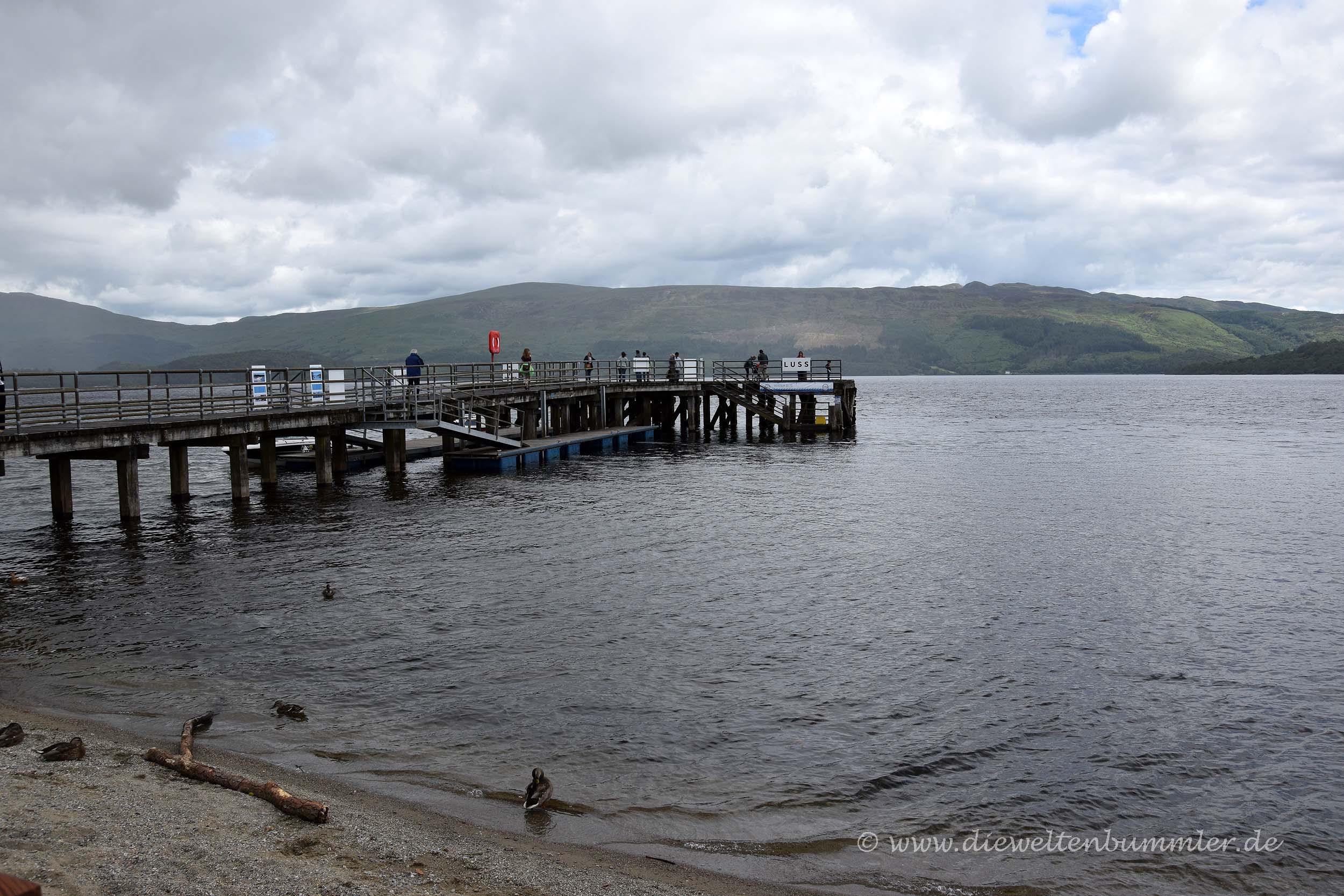 Steg am Loch Lomond