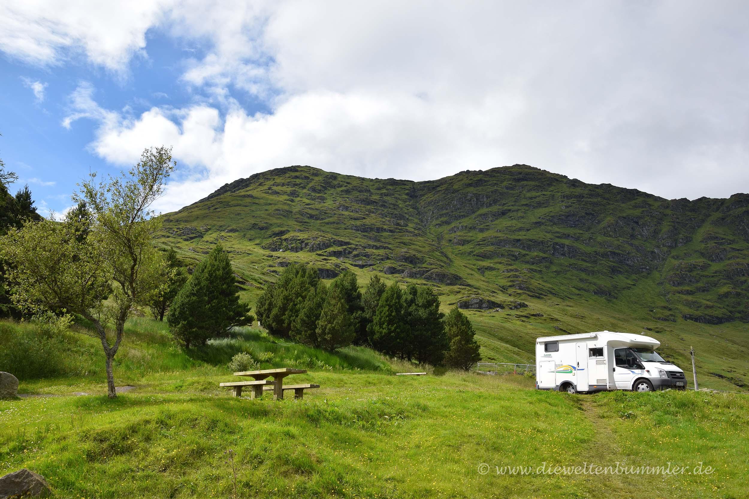 Wohnmobil in den Highlands