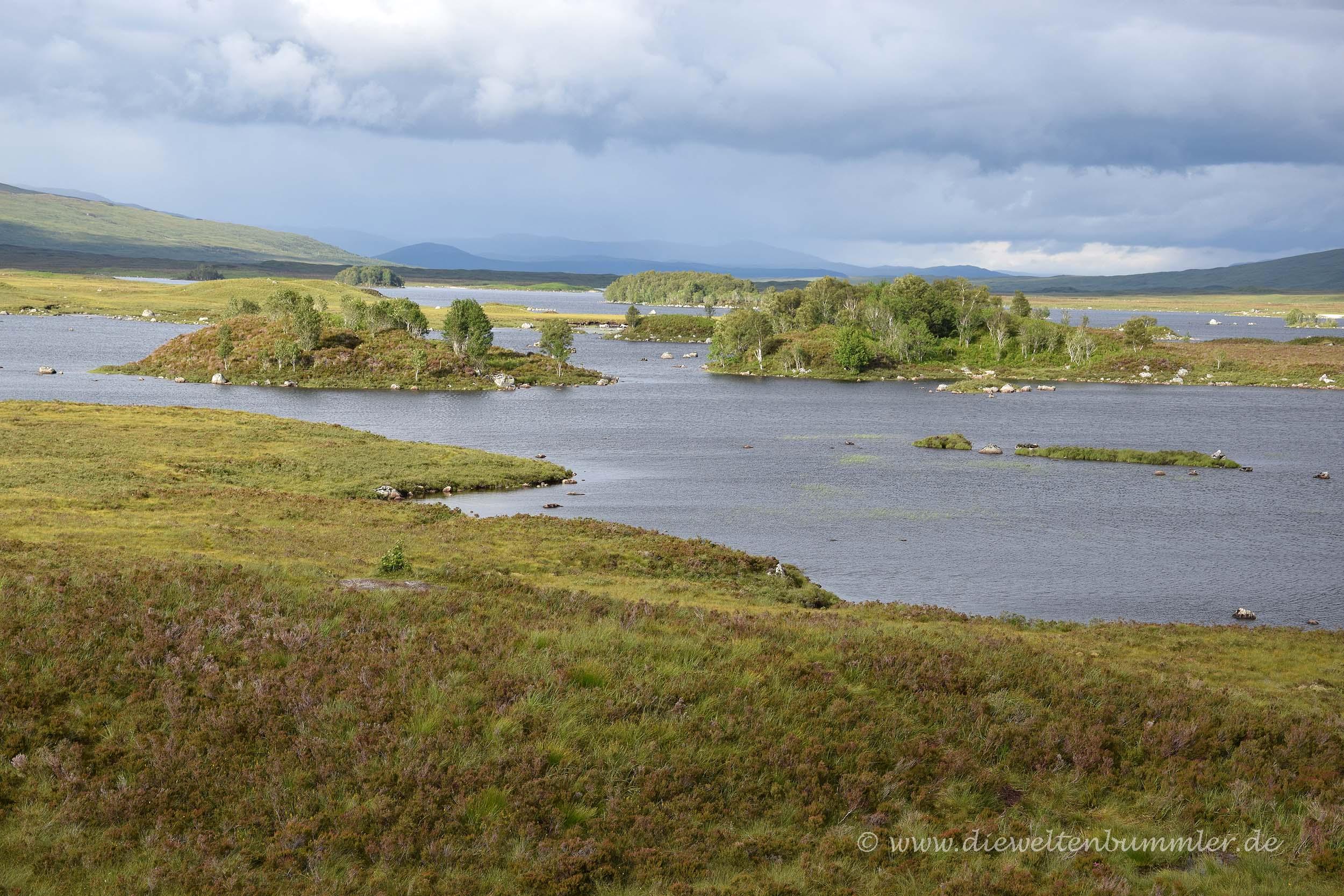 Weite Landschaft im Rannoch Moor