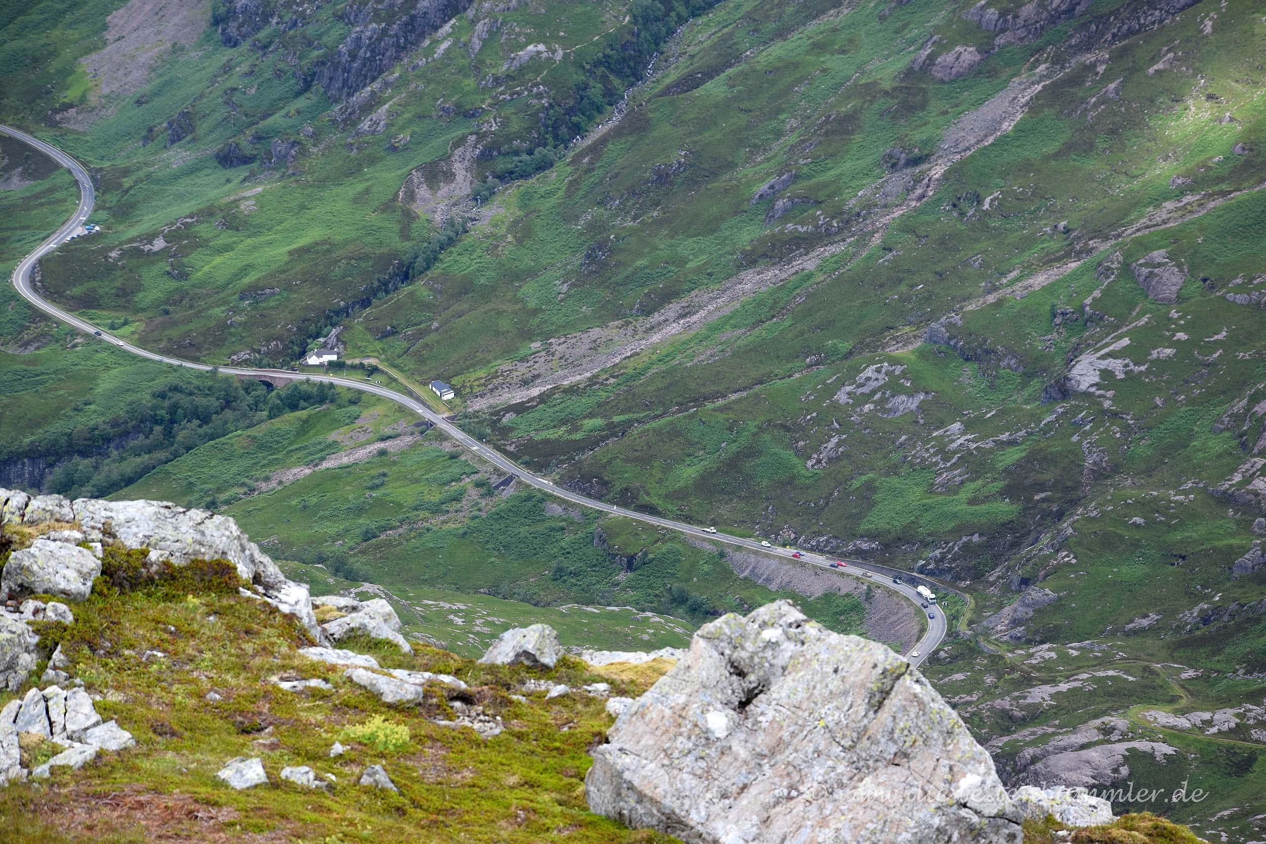 Straße durch das Glen Coe