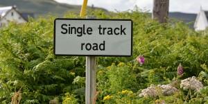 Ein Klassiker sind die Single Track Roads