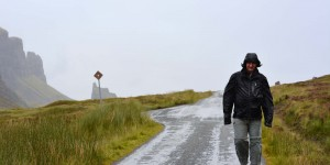 Michael Moll im Regen