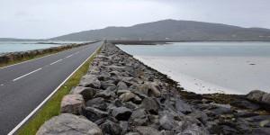 Damm auf den Uist Inseln