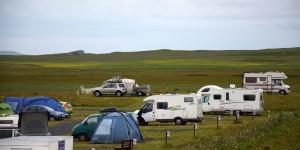 Campingplatz auf North Uist