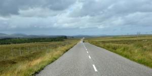 Straße auf den Äußeren Hebriden