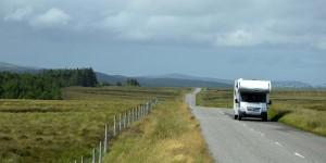 Wohnmobil auf den Äußeren Hebriden