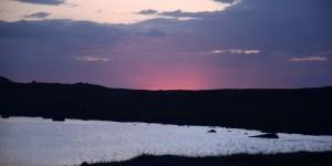 Sonnenuntergang auf den Äußeren Hebriden