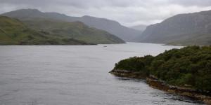 Klassische Landschaft in den Highlands