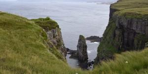 Felsnadel vor der Küste Handas