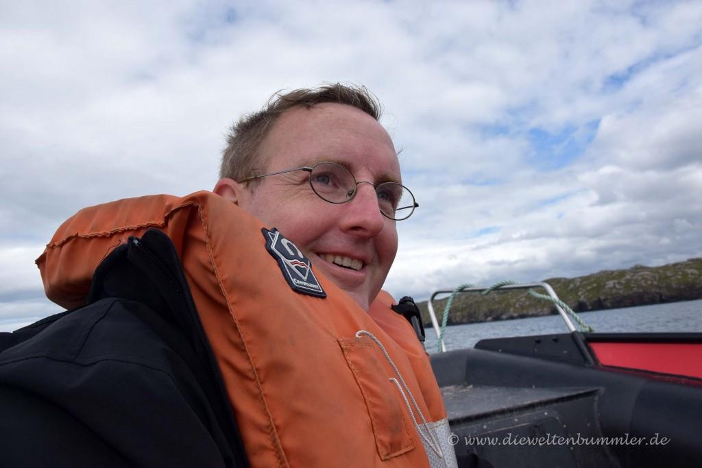 Michael Moll mit Rettungsweste