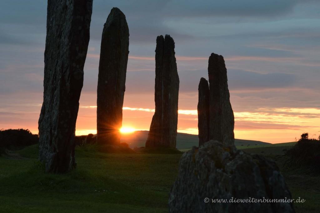 Ring of Brodgar bei Sonnenuntergang
