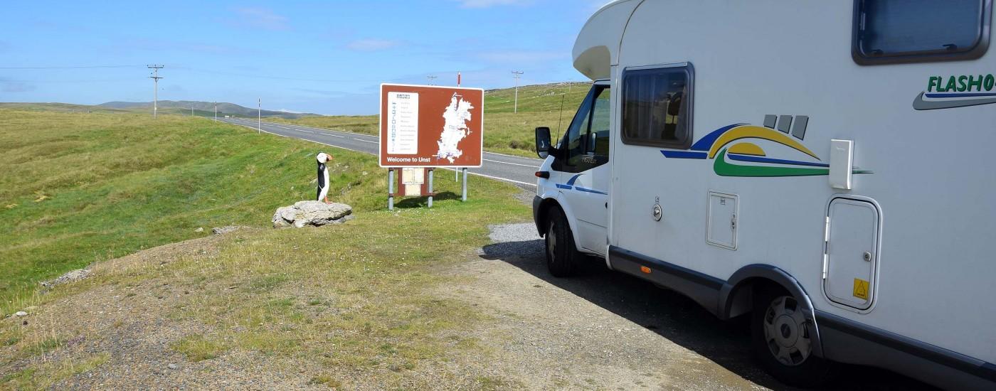 Mit dem Wohnmobil auf die Insel Unst