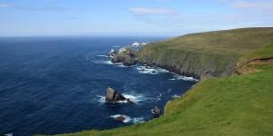Küste im Hermaness Naturreservat