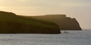 Sonnenuntergang auf den Shetland Inseln