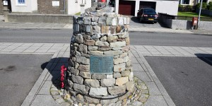 Denkmal für den Shetlandbus nach Norwegen