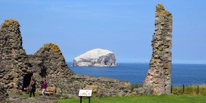 Bass Rock vor dem Tantallon Castle