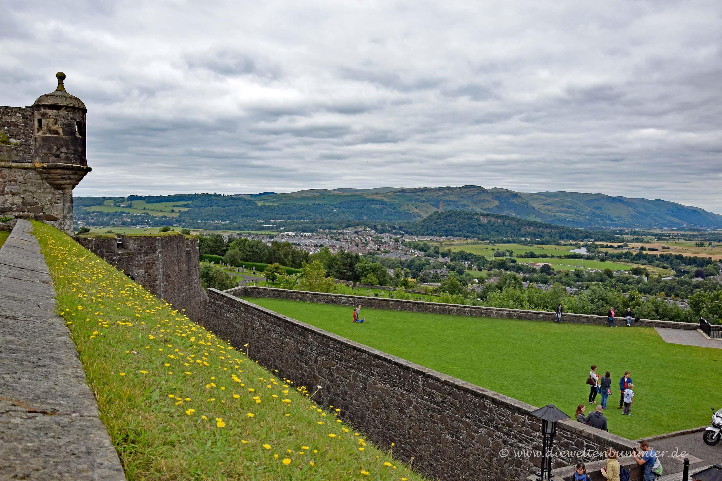 Ausblick von Stirling Castle