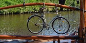 Fahrrad auf einem Schiff