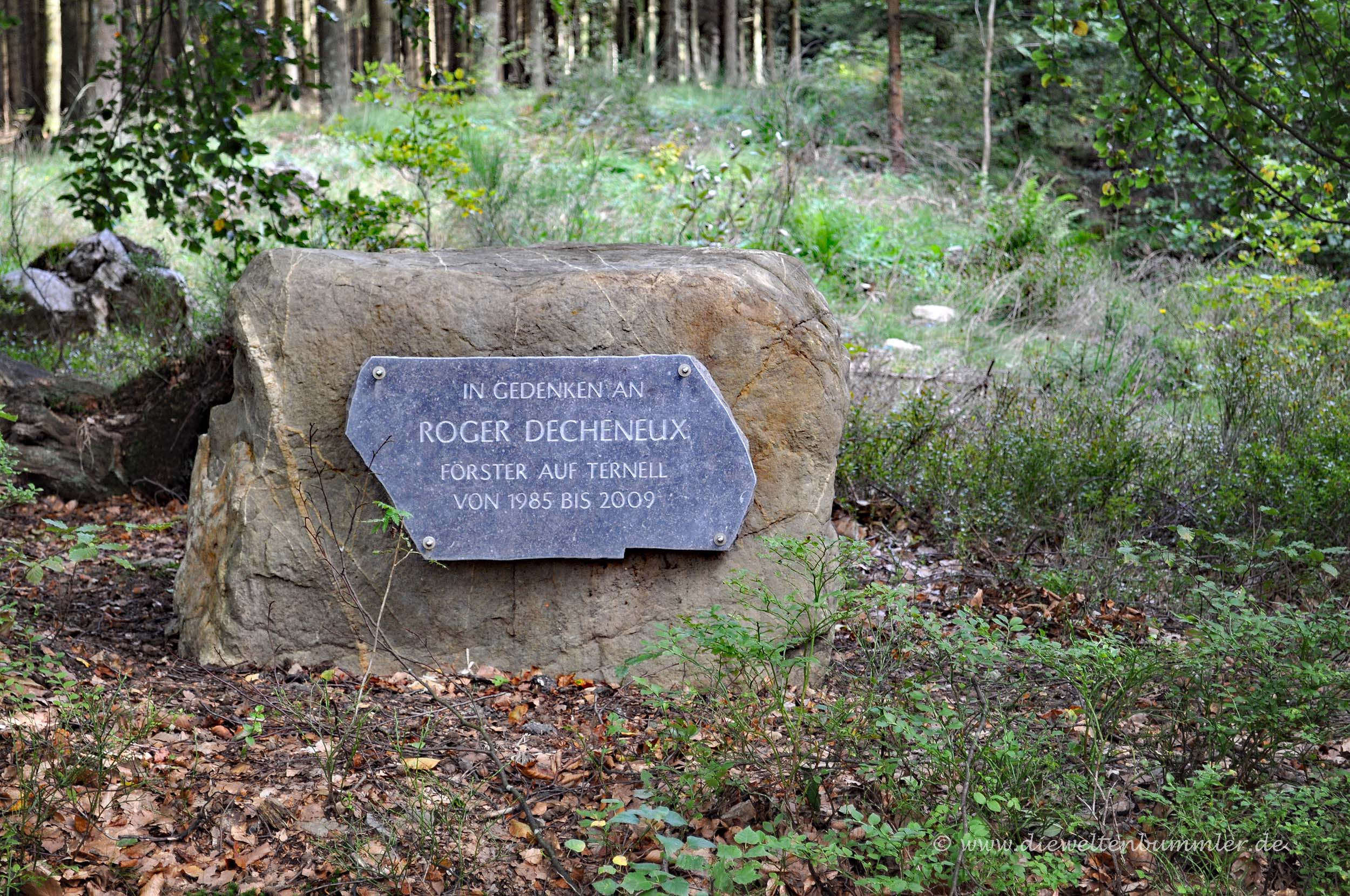 Gedenkstein für einen Förster