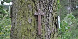 Kreuz am Baum