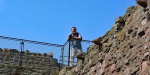 Michael Moll auf Tantallon Castle