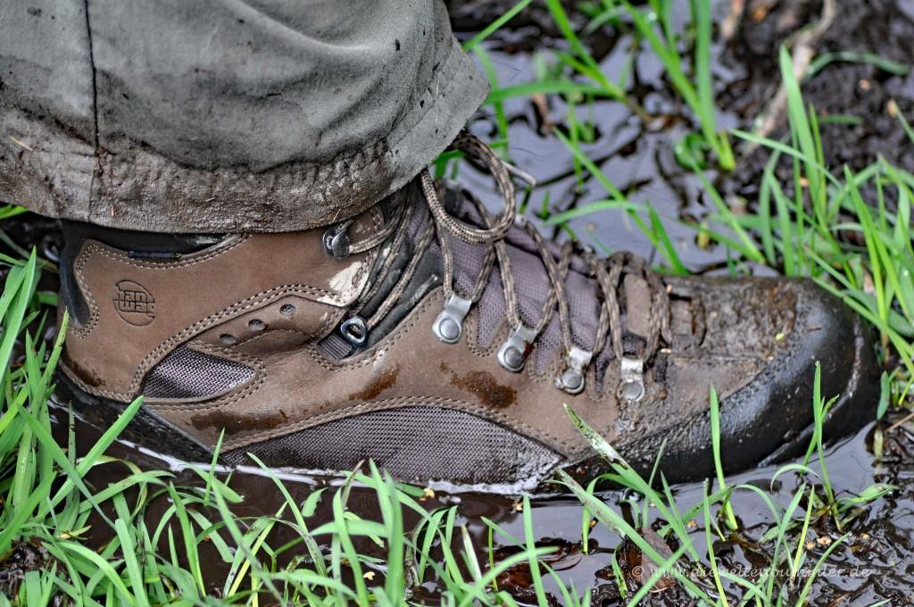 Und wieder festes Schuhwerk notwendig
