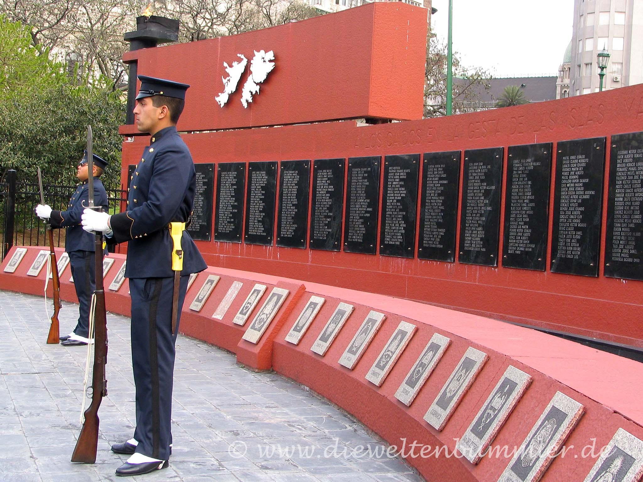 Denkmal an den Falklandkrieg