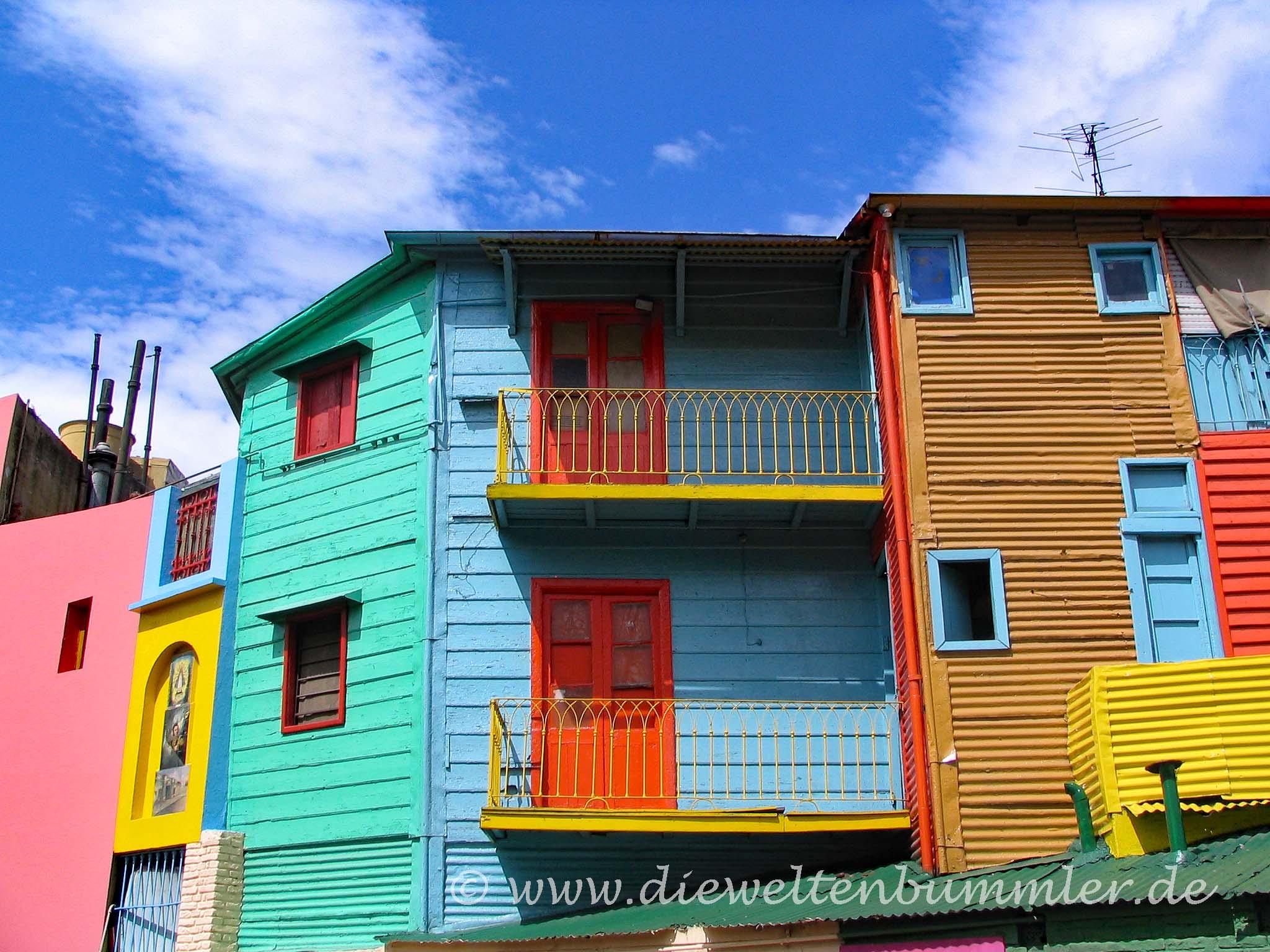 Farbenfrohe Caminito in La Boca