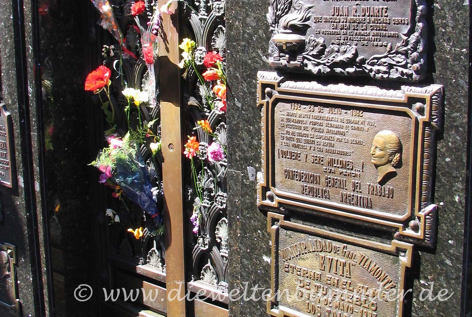 Grab von Eva Evita Peron