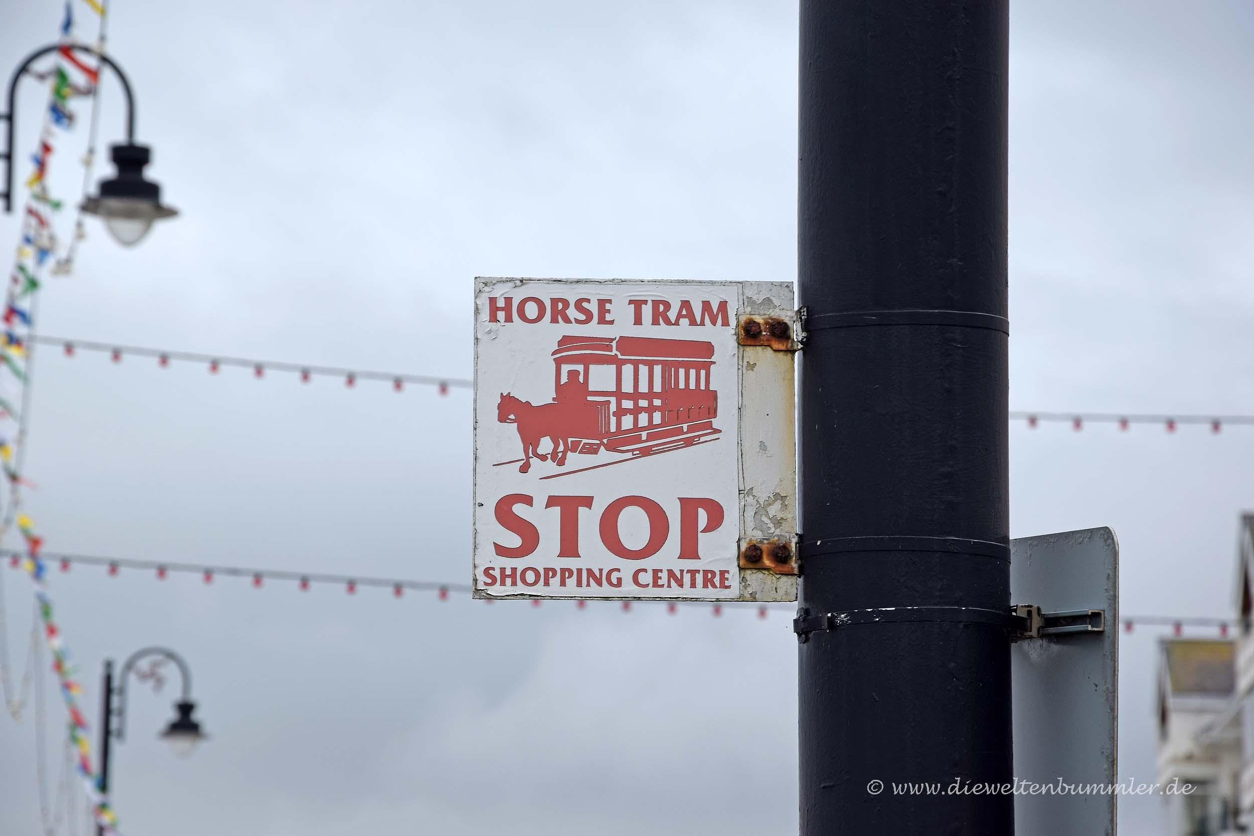 Haltestelle der Pferdebahn