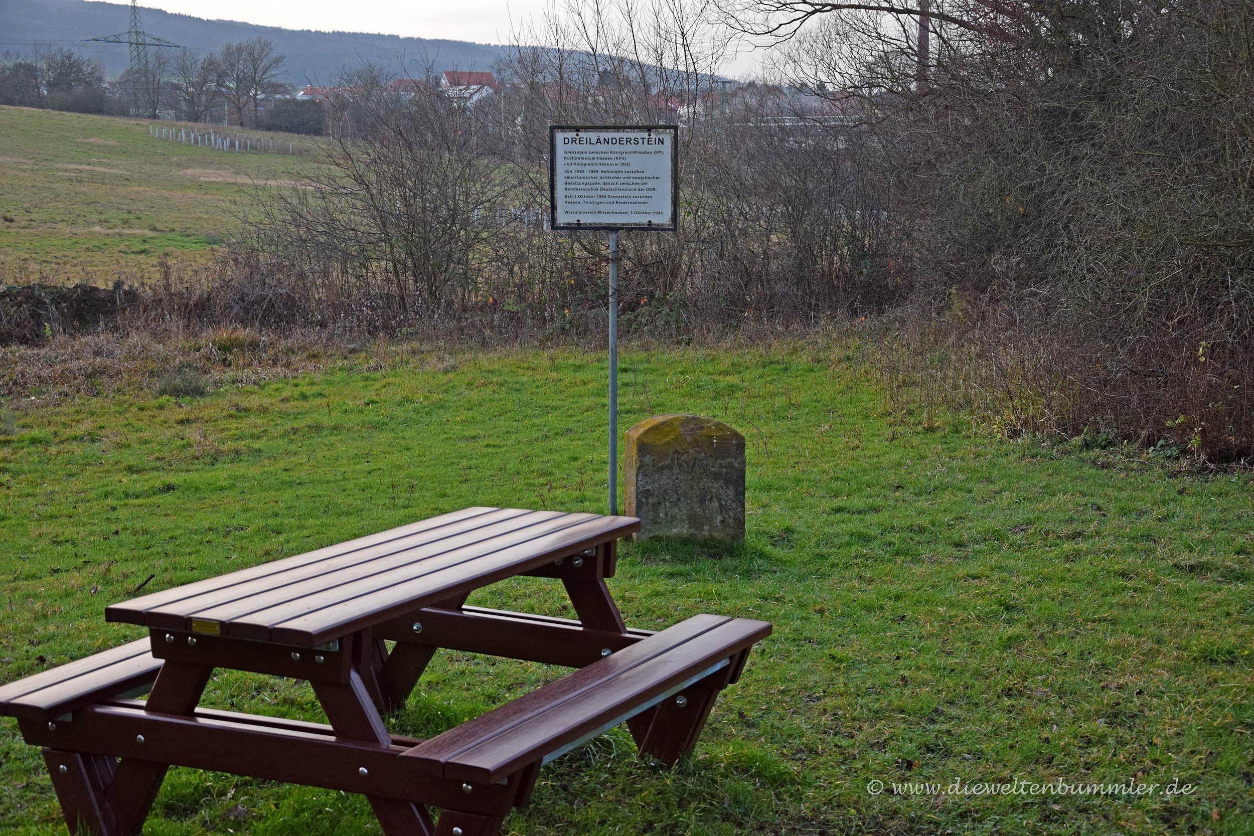 Dreiländerstein Hessen-Niedersachsen-Thüringen
